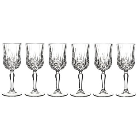 - Lorren Home Trends Opera 6 oz. Crystal All Purpose Wine Glass (Set of 6)