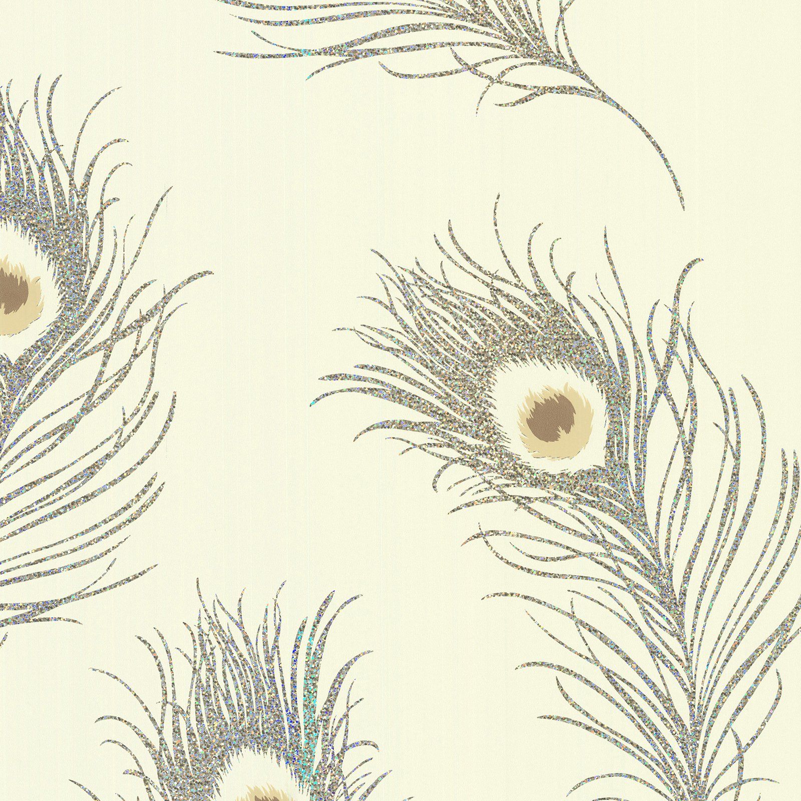 Brewster Peacock Feather Wallpaper