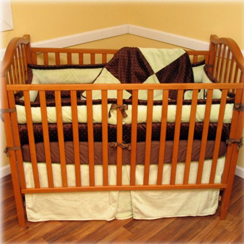 Ozark Mountain Kids Chocolate Mint 4 Piece Crib Bedding Set
