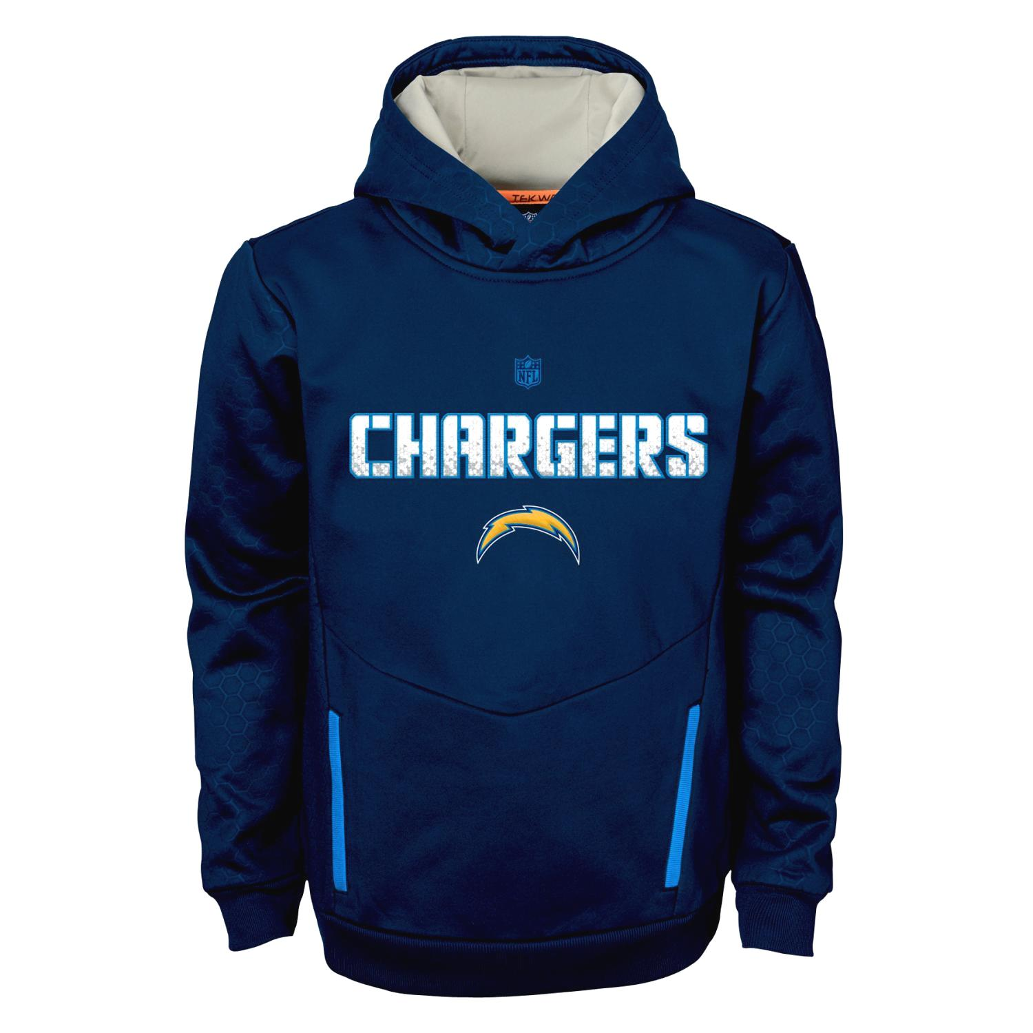 "San Diego Chargers Youth NFL ""Shadow"" Pullover Hooded Sweatshirt"