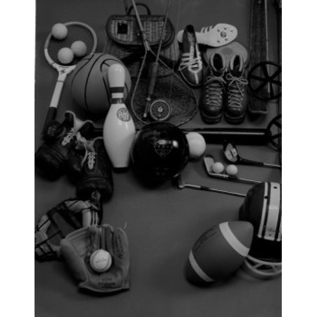 Sports equipment Canvas Art -  (24 x 36) Sports equipment Canvas Art -  (24 x 36)
