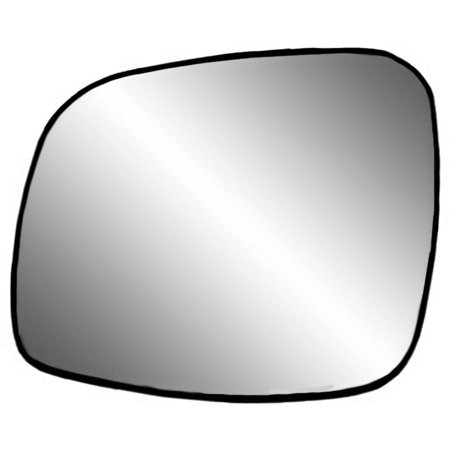 33241 - Fit System Driver Side Heated Mirror Glass w/ backing plate, Chrysler Town & Country 08-16, Grand Caravan 08-18, C/ V 12-15, 6 1/ 16