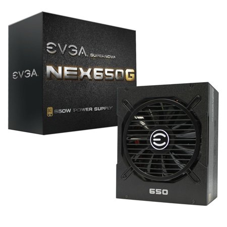 EVGA 120-G1-0650-XR 80 PLUS GOLD 650 W Fully Modular NVIDIA SLI Ready and Crossfire Support Continuous Power Supply