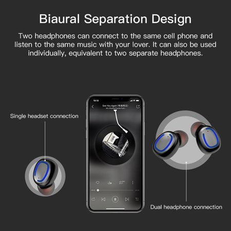 Sport Wireless Earbuds with charging case  Stereo Bluetooth Earphones  Xi11  TWS dazzling Bluetooth Headphones for iPhoneXs/XR/X/8/6/7 and Android
