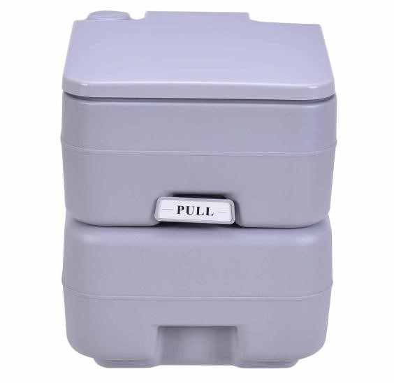 Costway Outdoor Camping Hiking Portable Toilet Flush Potty by Costway