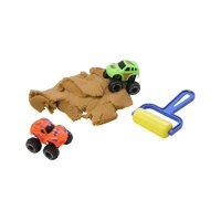1 Mini Container of Play Dirt Sand and Trucks - Moving Sand Construction Set