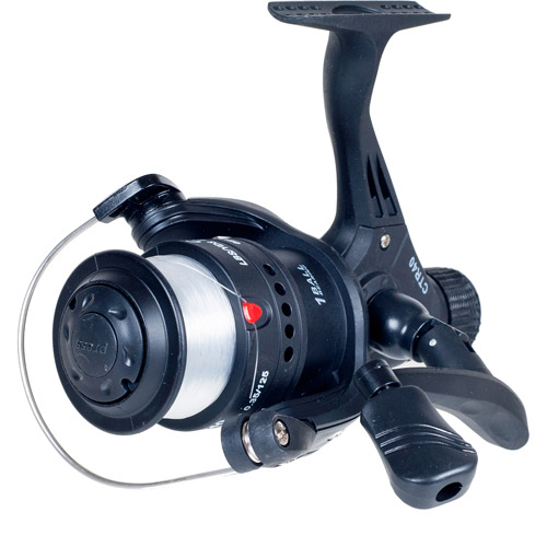 Gone Fishing Fishing Open Face Spinning Reel, Black