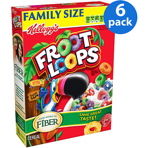 Kellogg's Froot Loops Multi-Grain Cereal, 21.7 oz (Pack of 6)