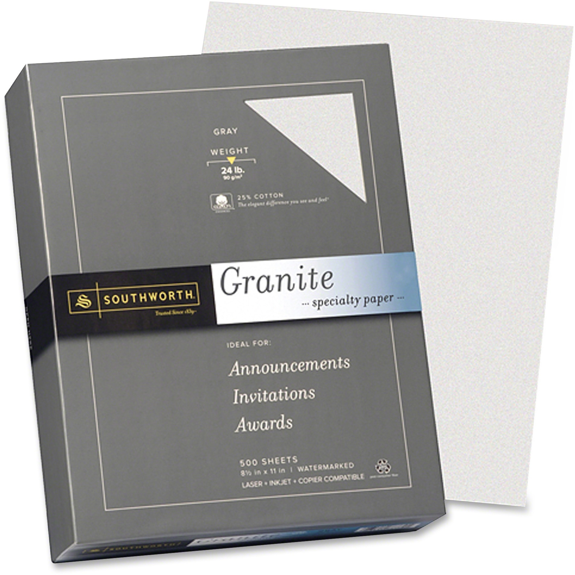 Southworth, SOU914C, Granite Specialty Paper, 500 / Box, Gray