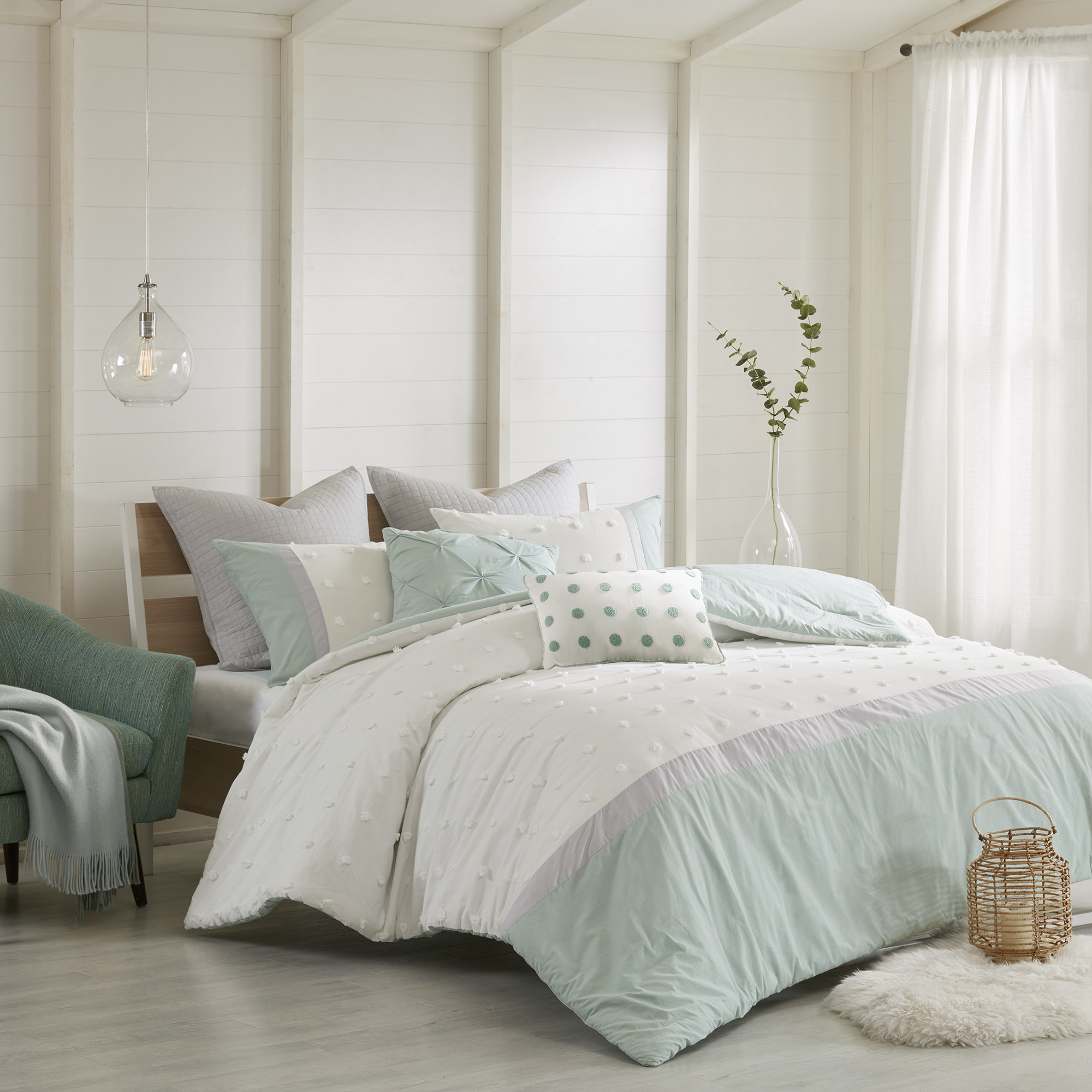 Home Essence Apartment Kira 7 Piece Cotton Jaquard Comforter Set