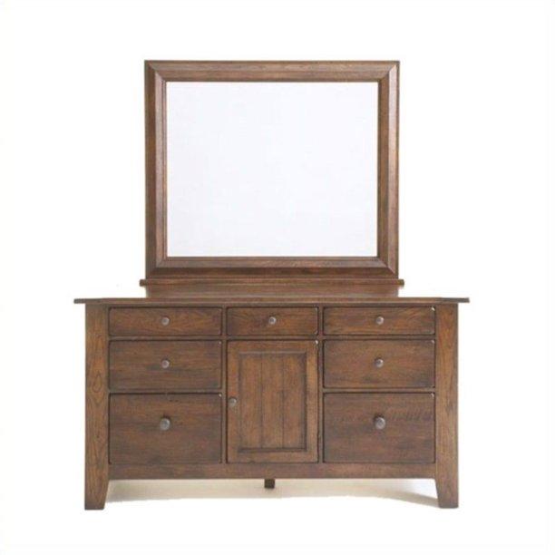 Broyhill Attic Heirlooms Dresser And Mirror In Oak Walmart Com Walmart Com