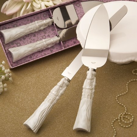 Fairytale Design / Cinderella Themed Stainless Steel Cake Cutter And Knife Set , 1 Butterfly Design Cake Knife