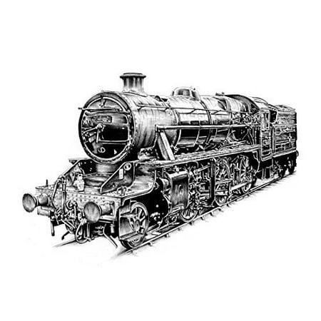 Steam Engine Vintage Train Edible Cake Image Topper 1/4 Sheet](Train Cakes)