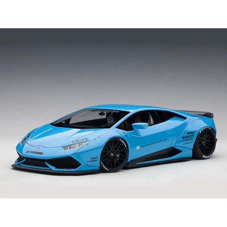 Saturn Sky Car (Lamborghini Huracan LB-Works Metallic Sky Blue 1/18 Model Car by Autoart )