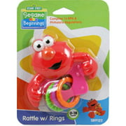 Sesame Street Elmo Rattle with Rings, BPA Free