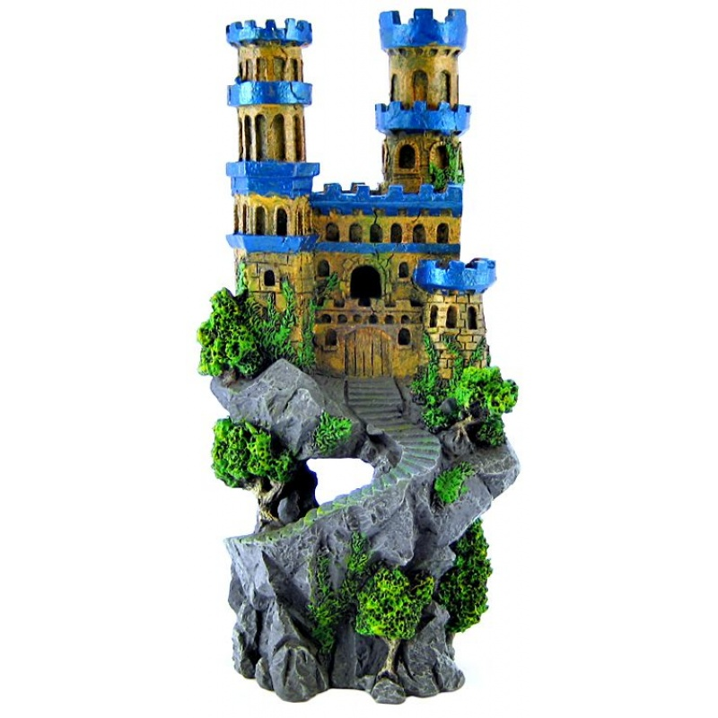 Resin Ornament - medieval Castle Tall 5 X 4.5 X 12""""