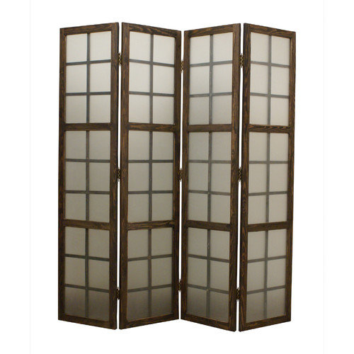 Screen Gems 71'' X 71'' Eglomise 4 Panel Room Divider