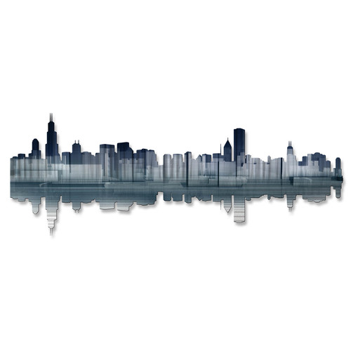 All My Walls Chicago Reflection Wall D cor