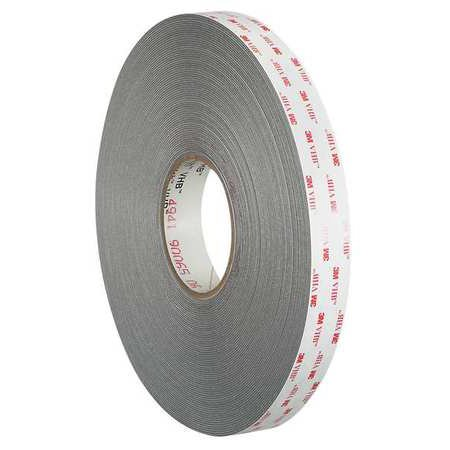 3M Double Sided VHB Tape,1/2 in.,Gray,36 y 4941 (4941 Vhb Tape)