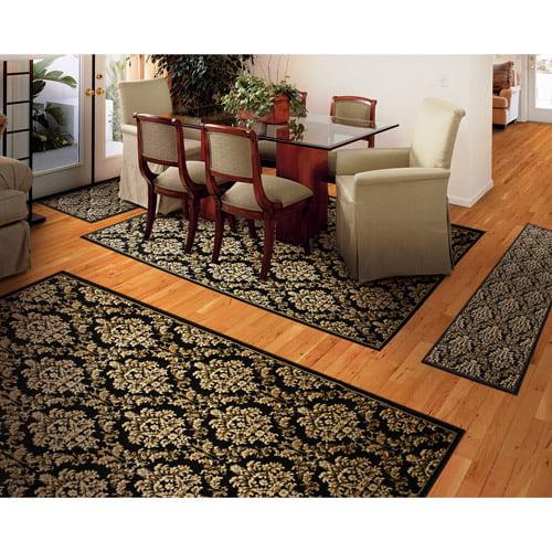 bath at home three rug piece gray dark set