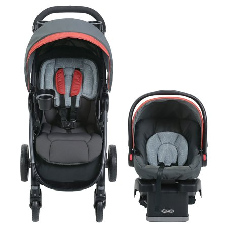 Graco FastAction DLX Travel System Car Seat Stroller Combo Solar