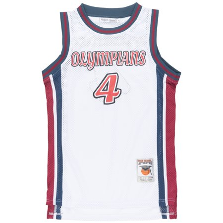 buy online a80e1 7edaf HeadGear Russell Westbrook Replica HS Olympians Mesh Jersey Basketball Men  White
