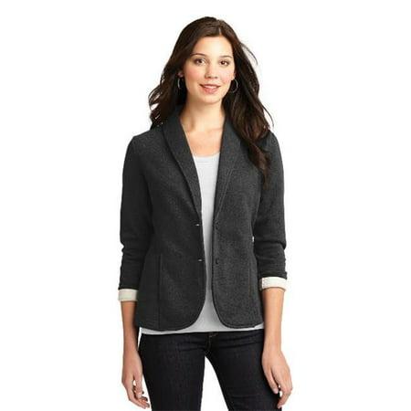 Port Authority® Ladies Fleece Blazer. L298 Dark Charcoal Heather Xl - image 1 of 1