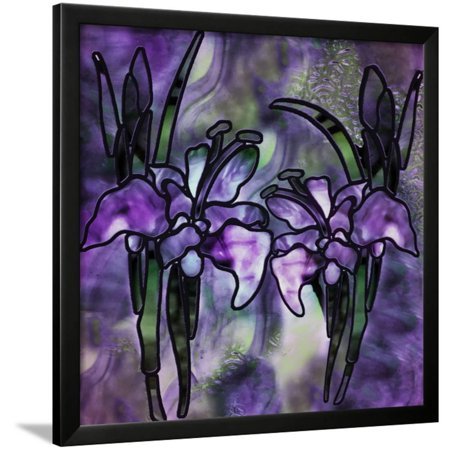 Stained Glass Orchids Framed Print Wall Art By Mindy Sommers