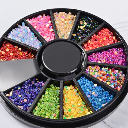 Outtop Diamonds Dazzling Tips Nail Sticker Sequins Colorful Nail Art Decoration