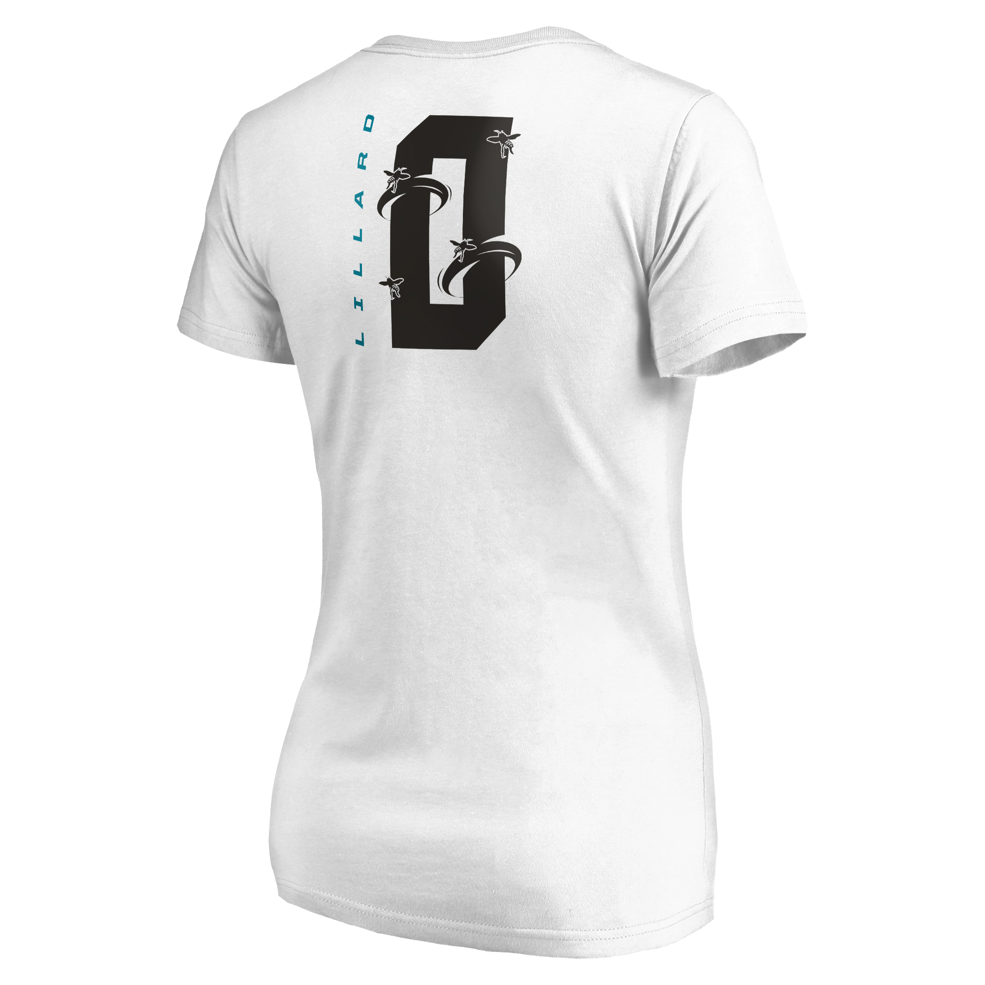 finest selection 37a37 34450 Damian Lillard Portland Trail Blazers Fanatics Branded Women's 2019 NBA  All-Star Game The Buzz Side Sweep Name & Number V-Neck T-Shirt - White
