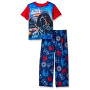 Star Wars Boys' Pajama Darth Vader and Stormtrooper Graphic Top and Lounge Pants Set, Star Wars Blue, Size: 4