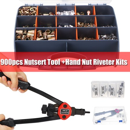 Air Riveter Tools - 900Pcs M3-M8 Stainless Steel Hand Riveter Rivnut Nut Insert Nutsert Tool Kit