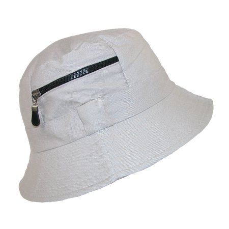 Jeanne Simmons - Jeanne Simmons Men s Cotton Bucket Hat with Zipper Pocket  - Walmart.com ab9ba3b3ab3