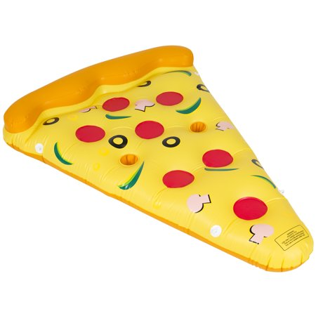 Best Choice Products Giant Inflatable Toy Floating Pizza Slice for Pool Party - Multicolor