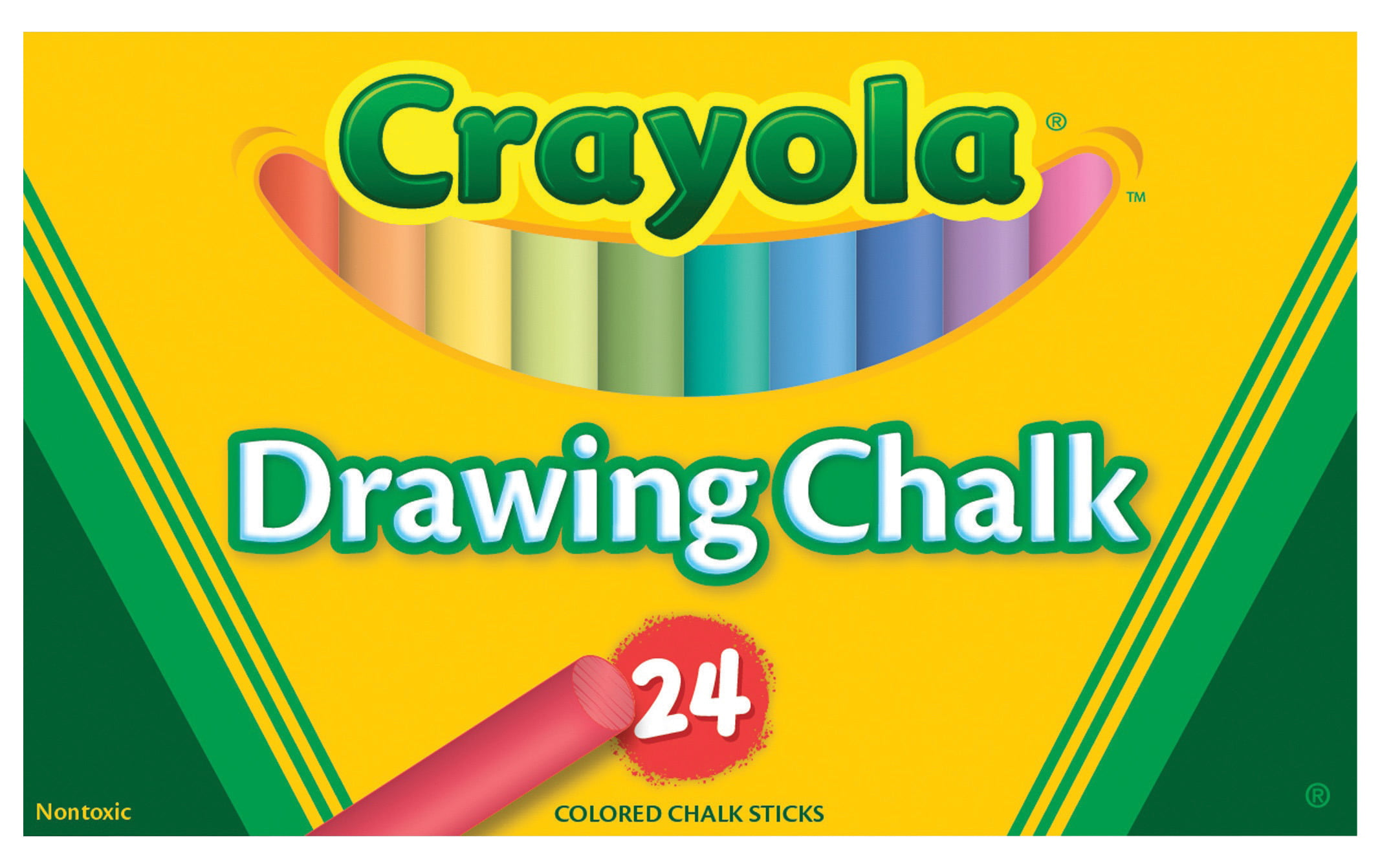 Crayola Non-Toxic Drawing Chalk, Assorted Colors, Pack of 24 by Crayola LLC