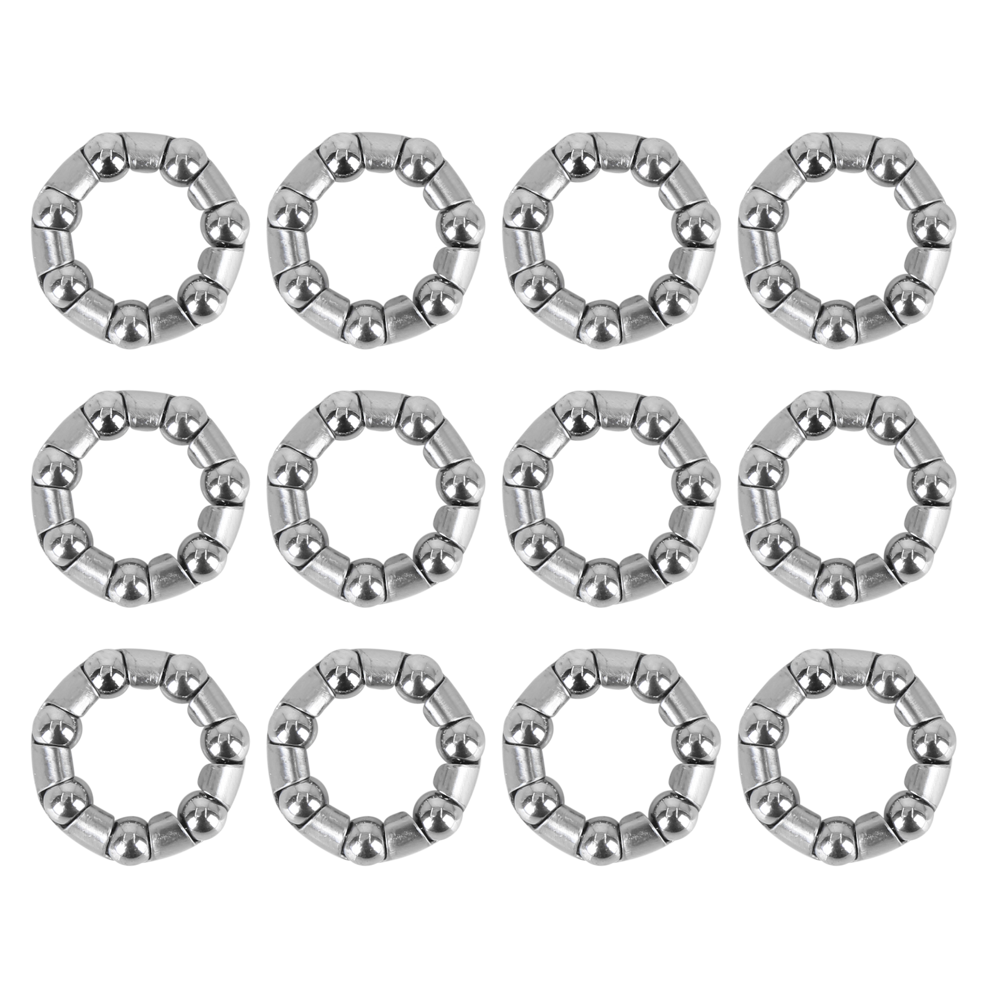 12pcs 37mm x 20 Bicycle Bike Ball Bearing with Retainer Ball Bearing Cages Crank