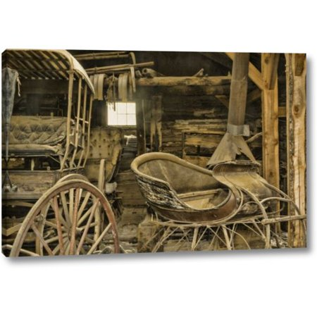 Millwood Pines 'Montana, Virginia City Antique Sleigh and Buggy' Photographic Print on Wrapped Canvas - Virginia City Montana Halloween