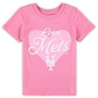 New York Mets Girls Preschool Heart Stars T-Shirt - Pink