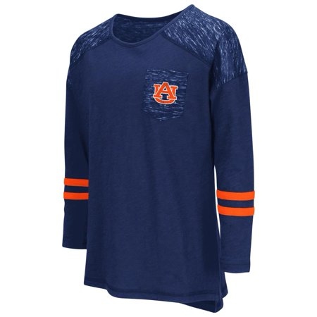 Auburn University Tigers Girls Pocket Tee Youth Long Sleeve Shirt