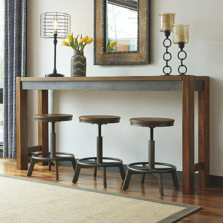 Signature Design By Ashley Torjin 72 In Long Counter Height Console Table