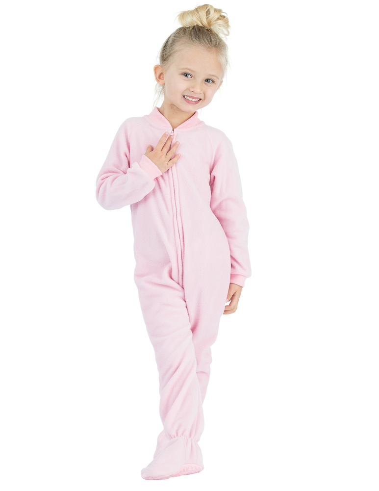 Christmas Footie Pajamas For Kids.Footed Pajamas Baby Pink Toddler Fleece Onesie