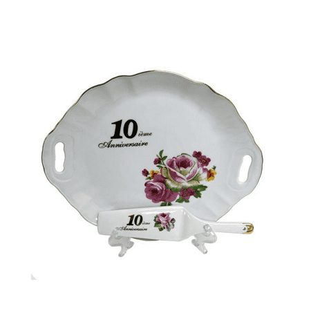 10Th Anniversary Plate Set - image 1 of 1