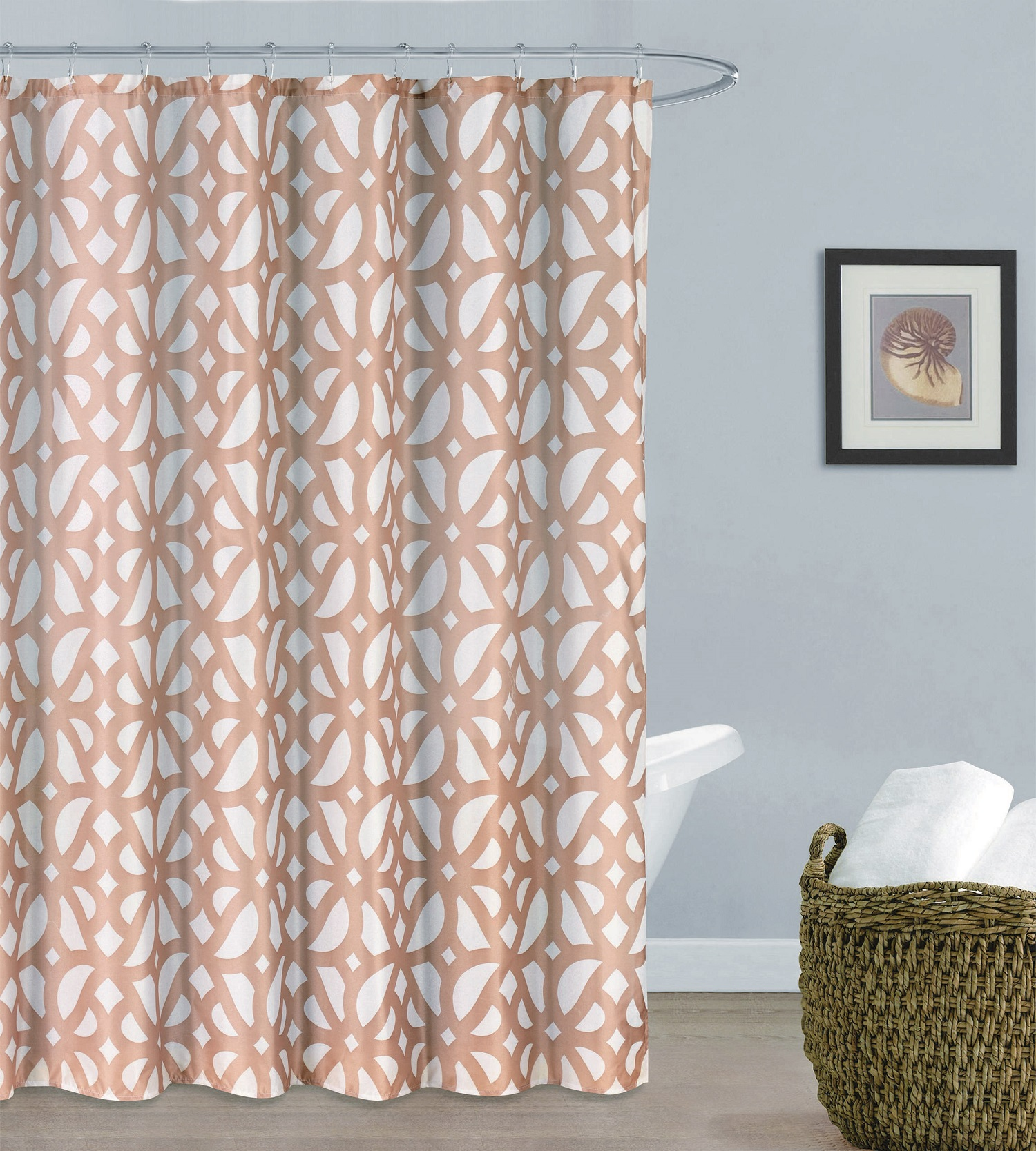 Uxbridge Faux Silk 13 Piece Shower Curtain Set