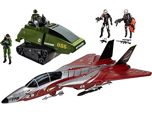 G.I. Joe 50th Anniversary Crimson Strike Set with Cobra Scythe & GI Joe Chimera & 4 Action Figures (2015 SDCC... by