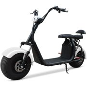 WHITE 2000W Electric Scooter 2 Seat Fat Tire Bike 18AH 60V Lithium Battery 28MPH