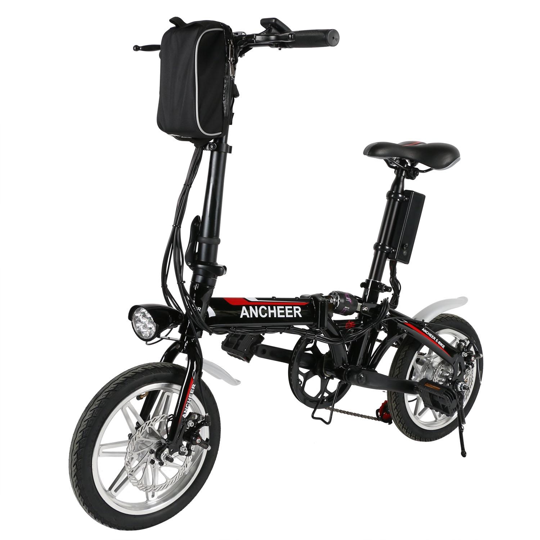 Ebike 14'' Foldable Electric  Bicycle Foldable Mountain B...
