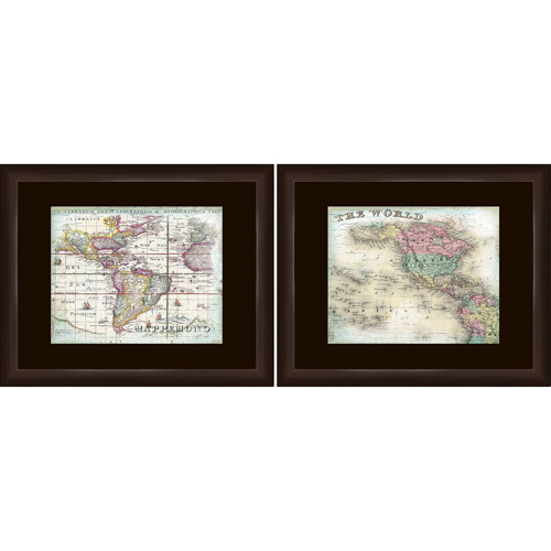 World Map II Travel Wall Art