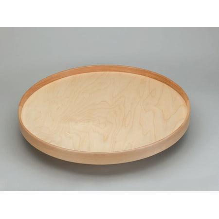Rev-A-Shelf 32 Inch 4NW Series Full Circle Single Shelf Lazy Susan - Natural Wood (Natural Wood Series Aluminum Pan)
