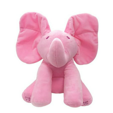 Tinymills Peek-a-boo Talking Singing Ear Flappy Elephant Music Doll Soft Plush Toy Baby Kids Boy Girl Gift