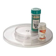 """mDesign Plastic Spinning Two Tier Lazy Susan Turntable Food Storage Bin - Rotating Organizer for Kitchen Pantry, Cabinet, Refrigerator or Freezer - 11.6"""" Diameter, Clear"""